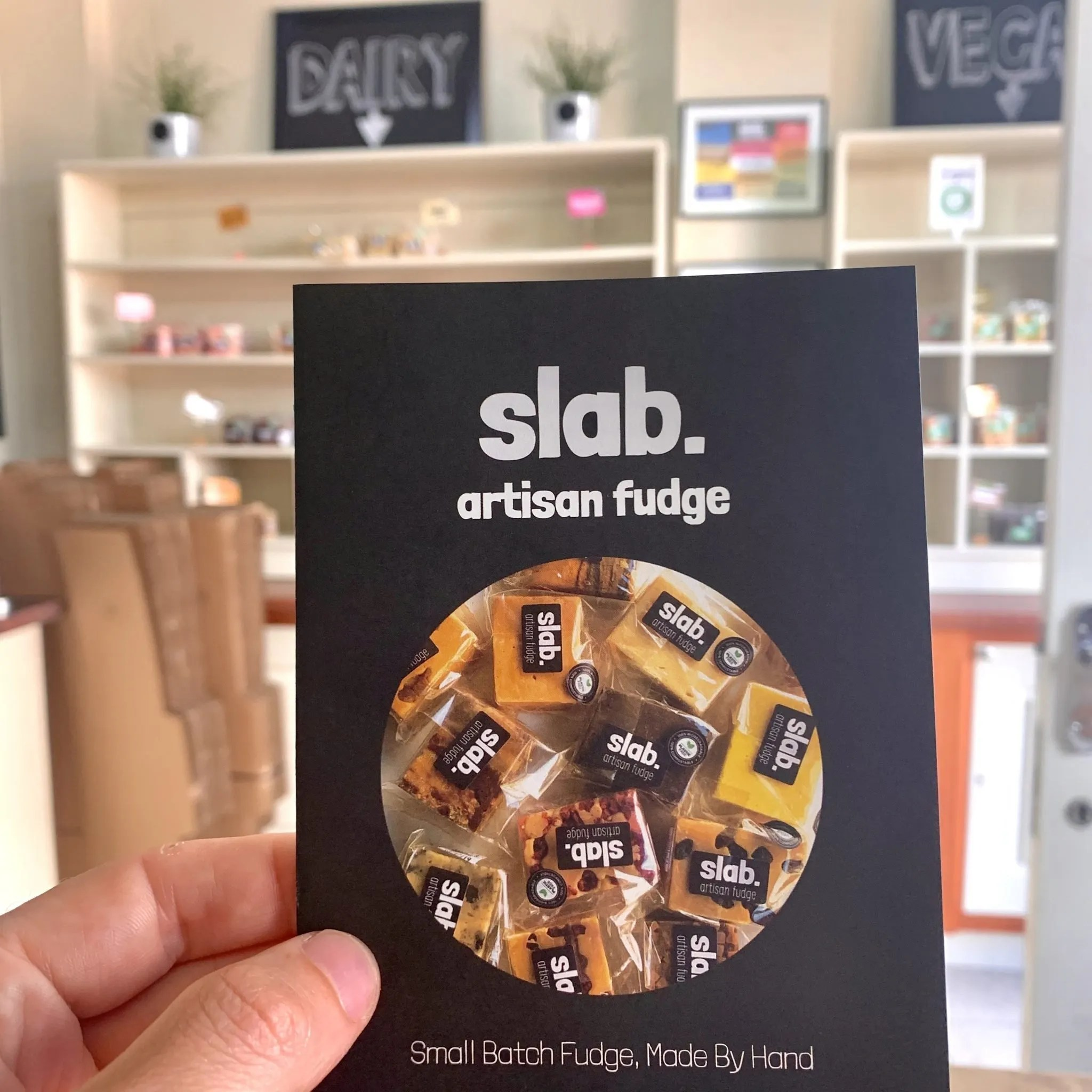 Slab fudge leaflet