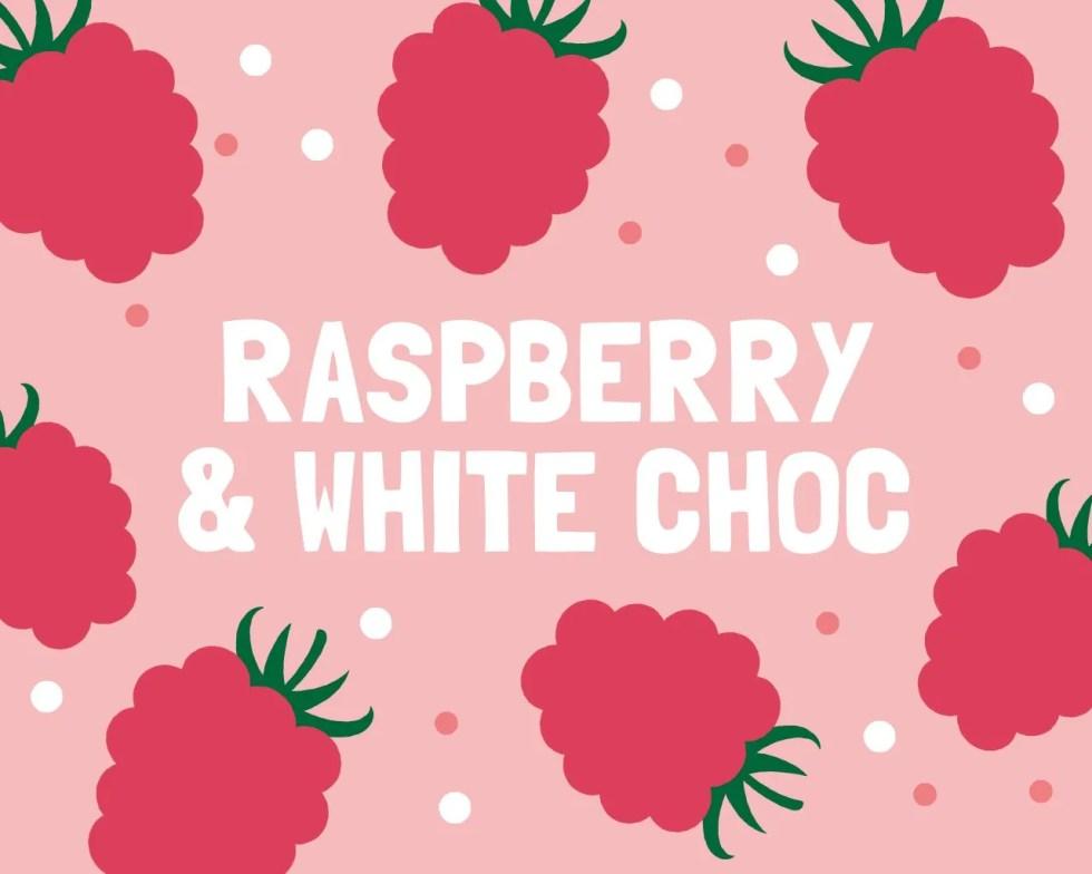 Slab Artisan Fudge - Raspberry & White Choc Flavour Graphic