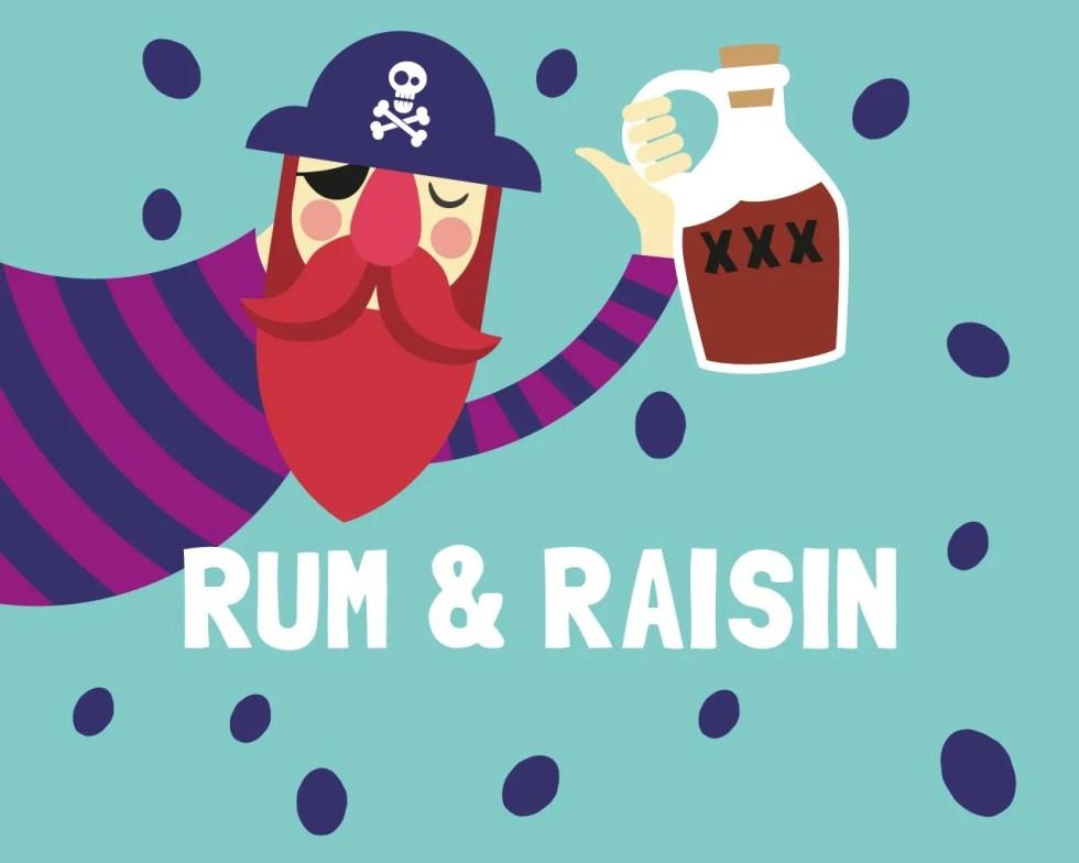 Slab Artisan Fudge - Rum & Raisin Flavour Graphic