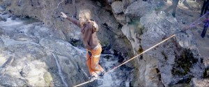 highlining slacklining with the yogaslackers in oregon mckay falls lower fishbowl buddy thomas drone video