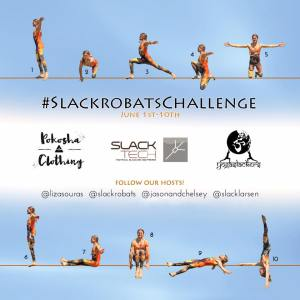 slackline challenge slackrobats yogaslackers slacklarsen heather larsen lizasouras pokosha clothing slack tech jason and chelsey magnets june slackline yoga