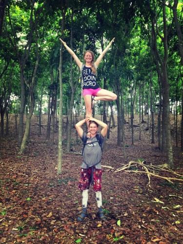acroyoga monkey forest ubud bali buddy thomas slackrobats lindsikay