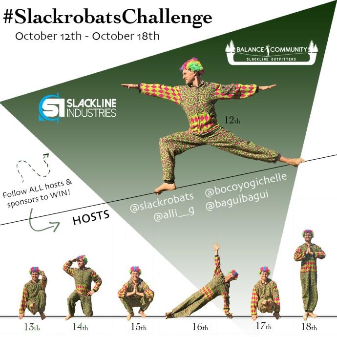 slackline challenge october slackrobats challenge