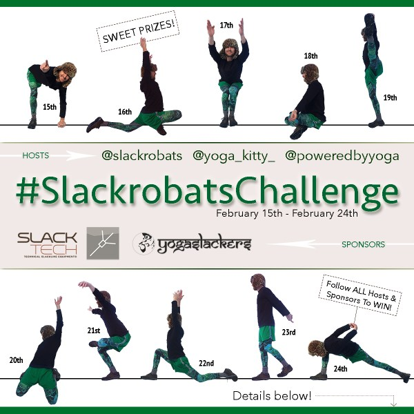 Kick Off 2017 With A Slackline #SlackrobatsChallenge!