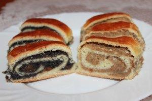 Makový závin, orechový závin, Kysnuté koláče, Plnkové koláče, Sladký život