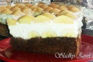 Banánovo - tvarohová torta