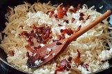 Domáce slíže s tvarohom, smotanou a slaninkou