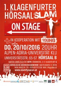 Flyer Hörsaal Slam