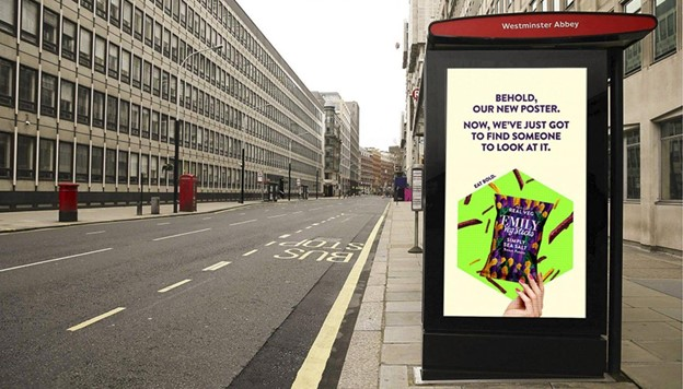 Bus stop Ad for Emily Veg Sticks