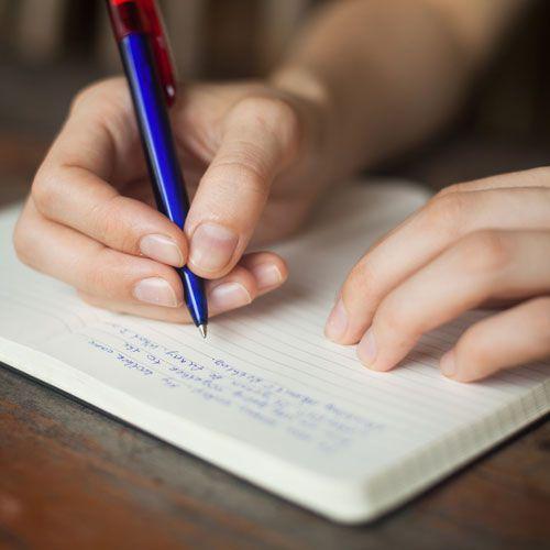 schrijf wat je eet