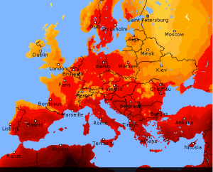 Hot as Hell - Europe Map