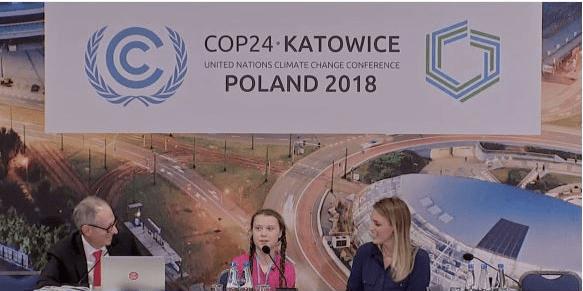 Teen Climate Activist - climate summit press conference in Katowice, Poland