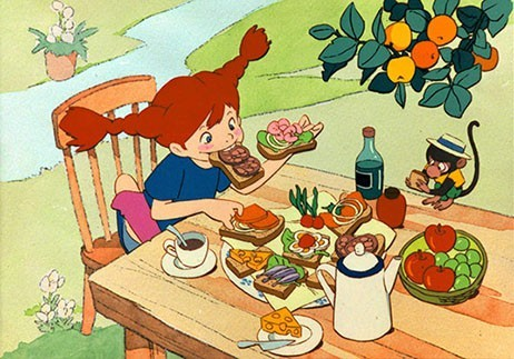 Pippi Eating Food