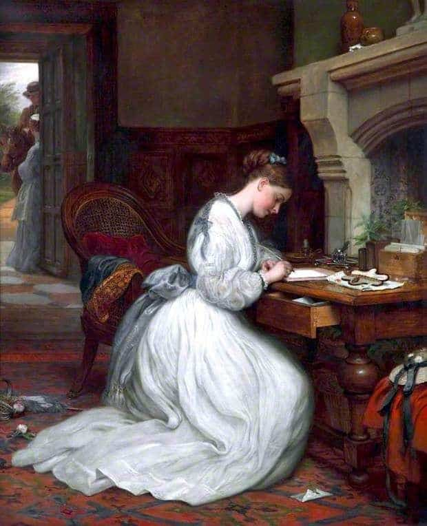 Yes or No, 1873 by Charles West Cope