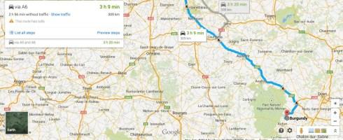 Paris to Burgundy