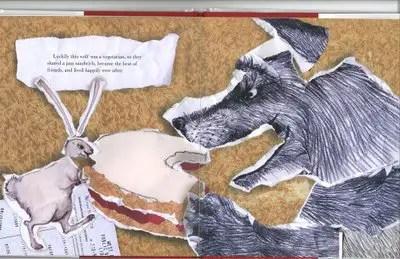 Wolf eating rabbit - photo#44