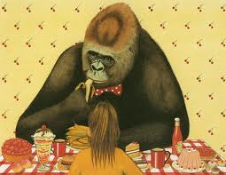 Anthony Browne Gorilla Eating Out