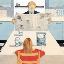 Anthony Browne Gorilla Newspaper Breakfast Scene