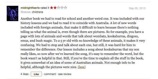 Goodreads Possum Magic review