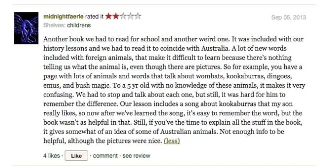 Goodreads Possum Magic review