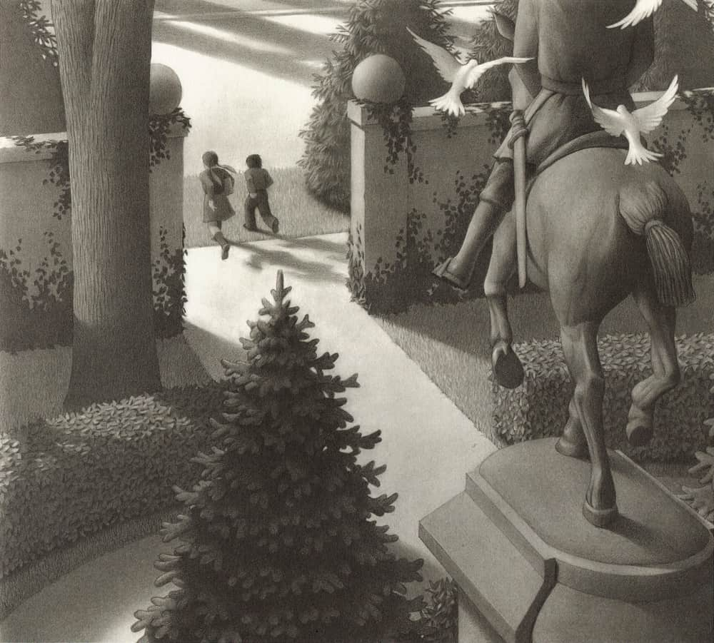a literary analysis of jumanji by chris van ellsberg Jumanji author chris van allsburg on the story's personal origins and  could  you write the same book today, in the age of the devices and.