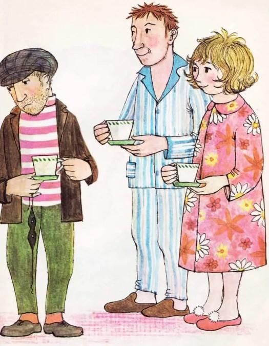 Burglar Holds Tea