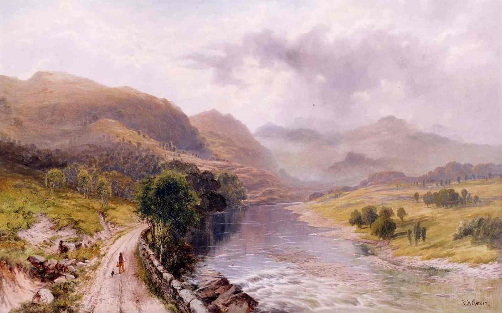 William Henry Mander - A Welsh River Valley