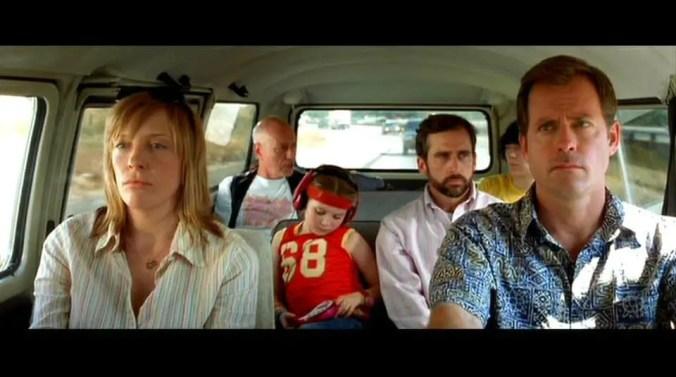 full cast in the van