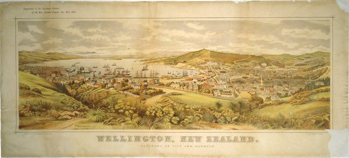 Wellington 1893 Lithograph