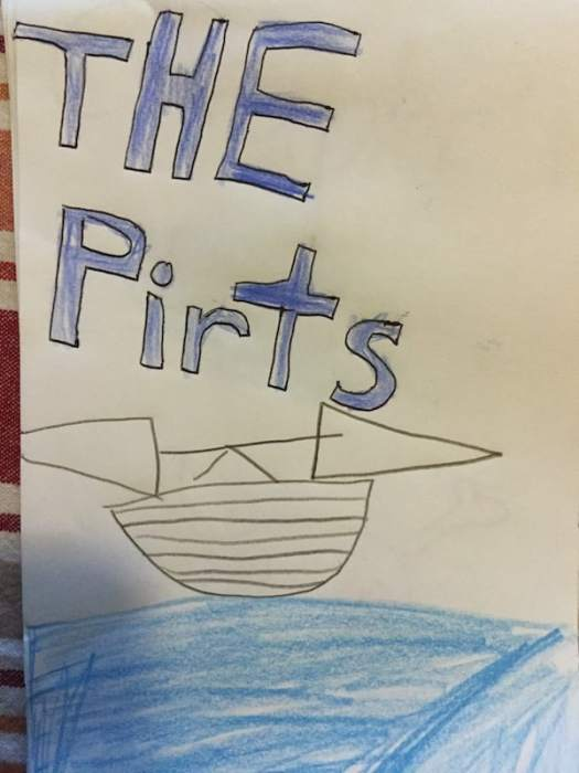 Introducing The Pirts: by Hannah age 8. Like Pirates, only briefer.