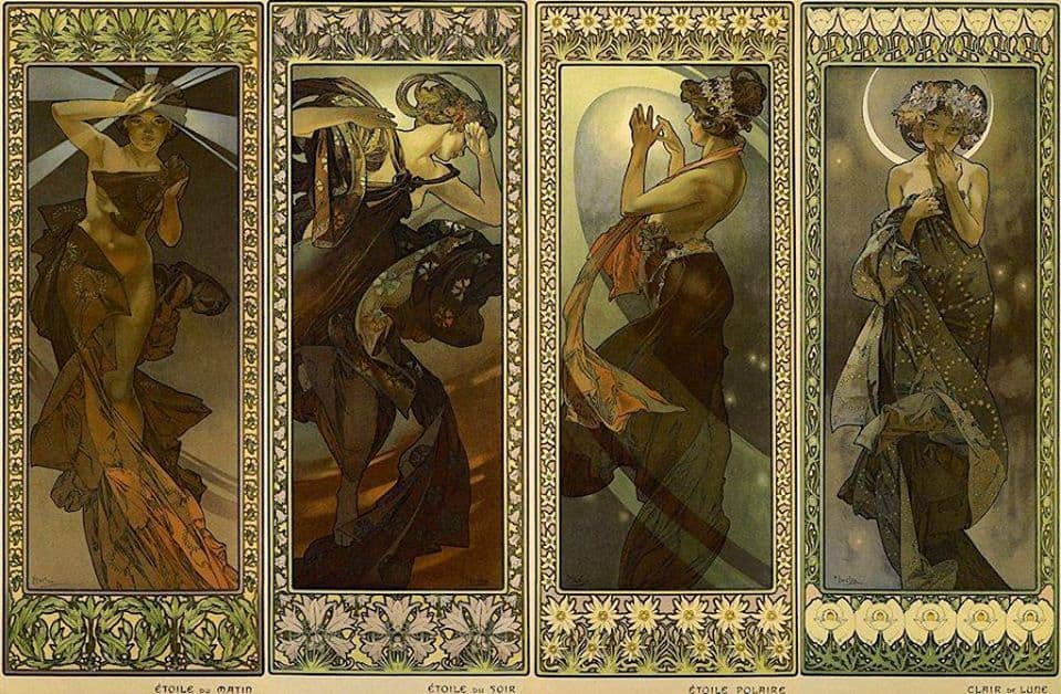 Alphonse Mucha- The Moon and the Stars