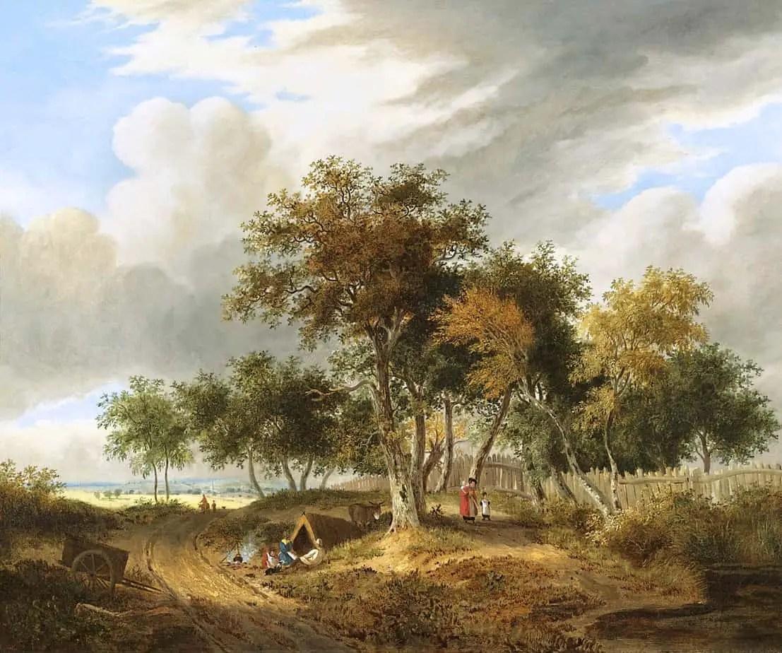 Samuel David Colkett - A Gypsy Encampment