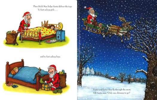 stick man helps santa