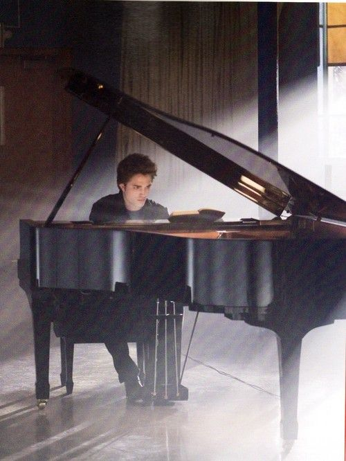 Edward plays piano