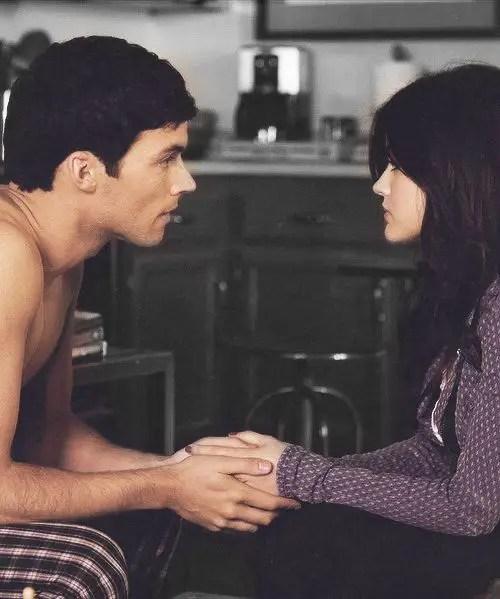 Ezra Aria holding hands