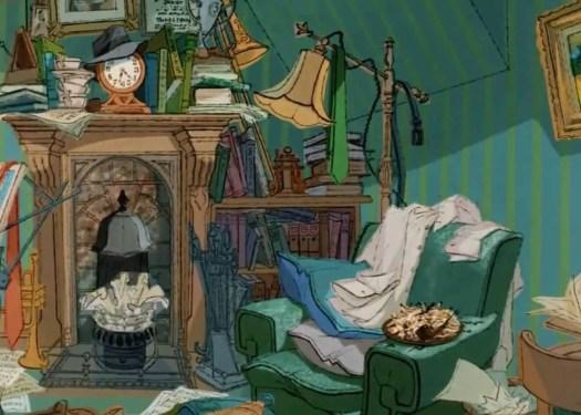 101 Dalmatians attic scene