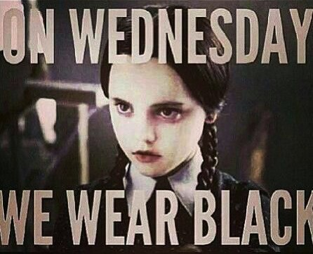 Nannies also wore black, like Wednesday Adams