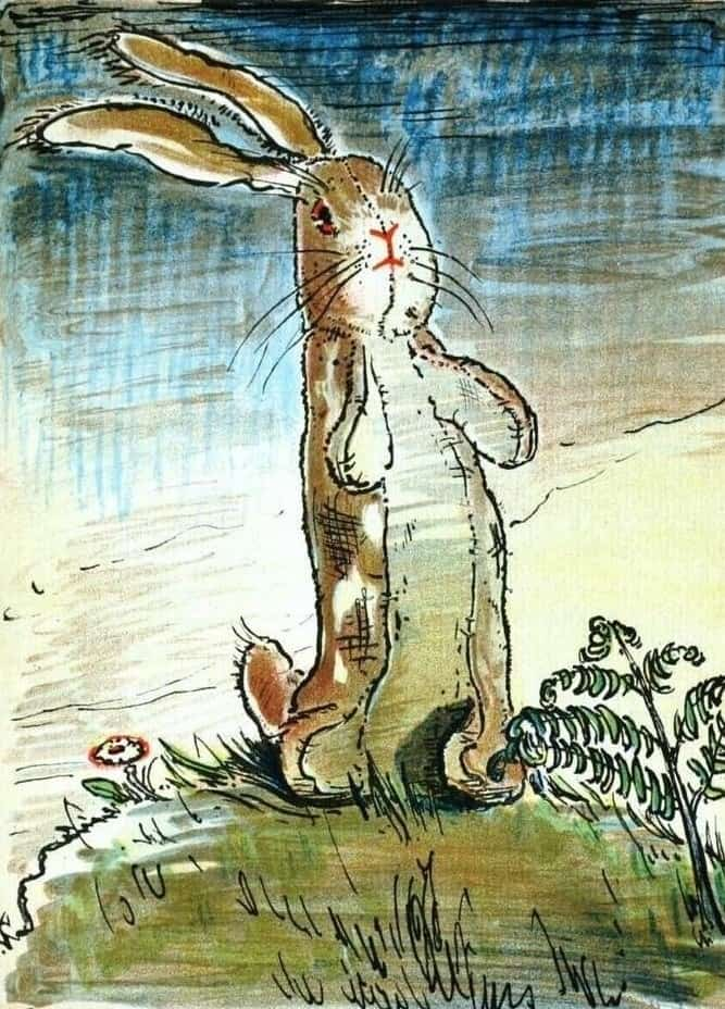 Spring Time by William Nicholson (1872-1949) from The Velveteen Rabbit 1922
