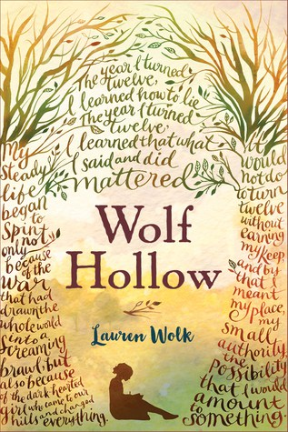 Wolf Hollow cover with writing