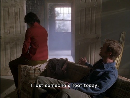 Six Feet Under, like The Blood Bay, uses a severed foot as prop in a darkly humorous episode.