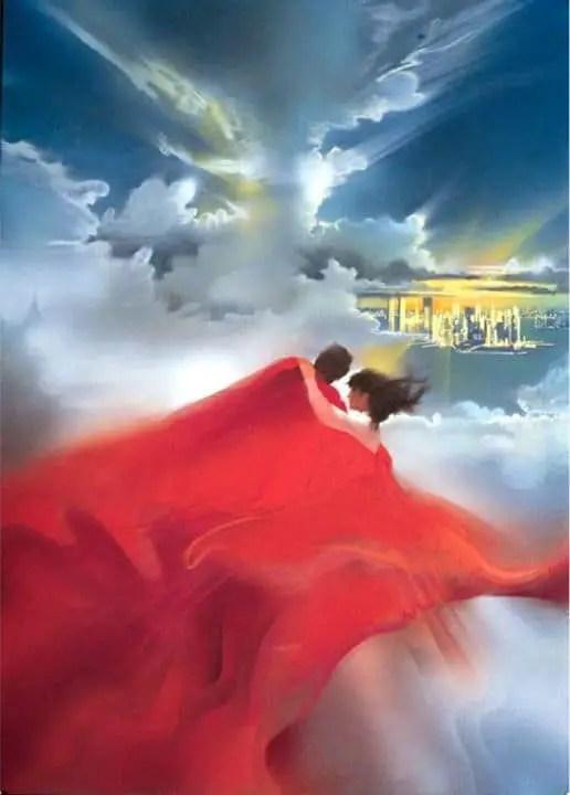 'Superman' (WB 1978) theatrical poster illustration by Bob Peak