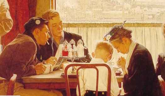 Norman Rockwell Saying Grace