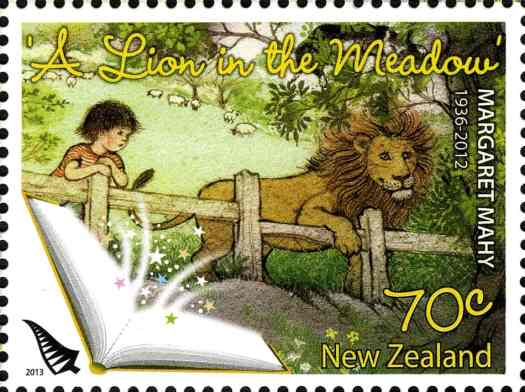 A Lion In The Meadow stamp