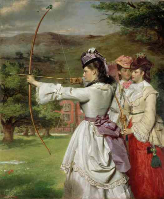 William Powell Frith - The Fair Toxophilites 1872