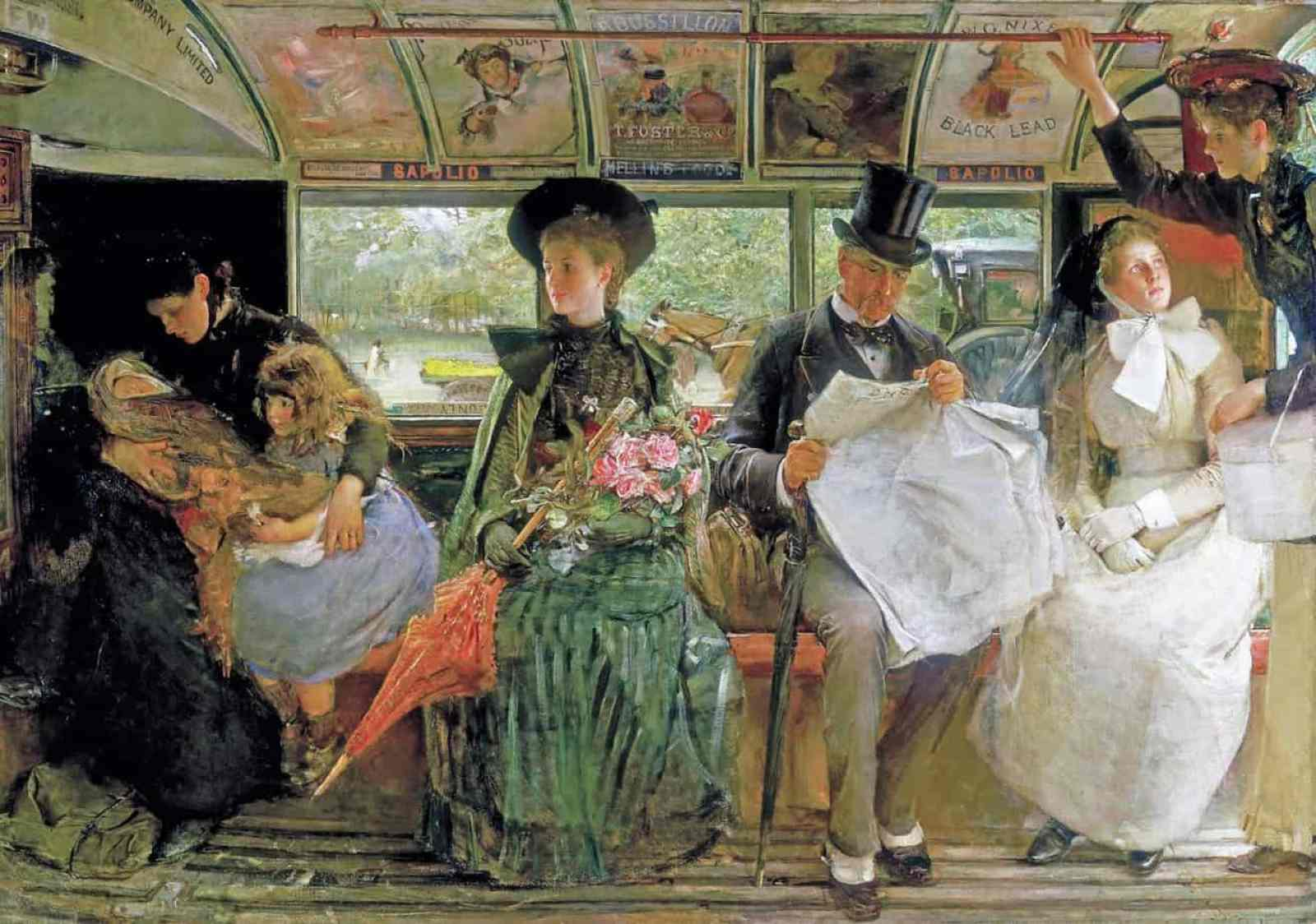 George William Joy - The Baywater Omnibus 1895