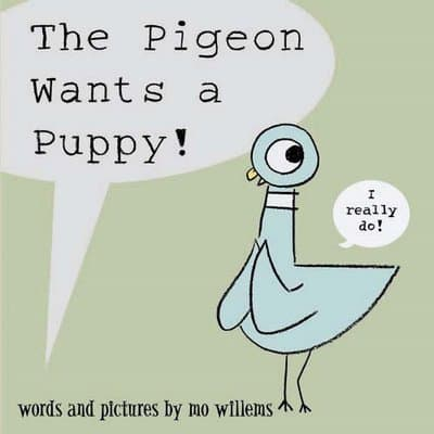 pigeon wants a puppy cover