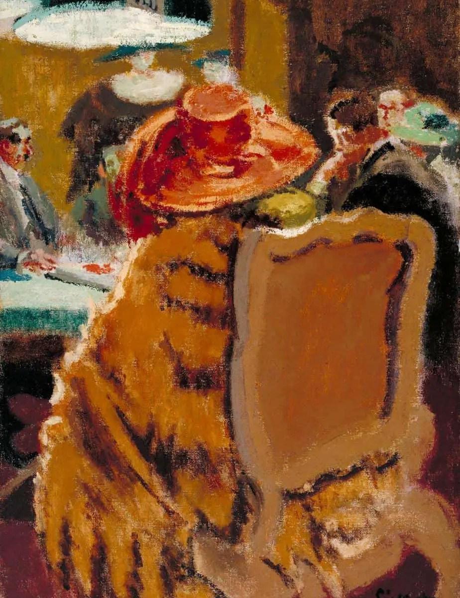 Baccarat - the Fur Cape 1920 Walter Richard Sickert 1860-1942