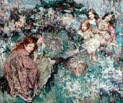 Edward Atkinson Hornel - The Seesaw 1905