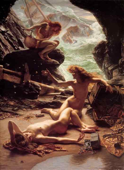 Edward John Poynter - Cave of the Storm Nymphs