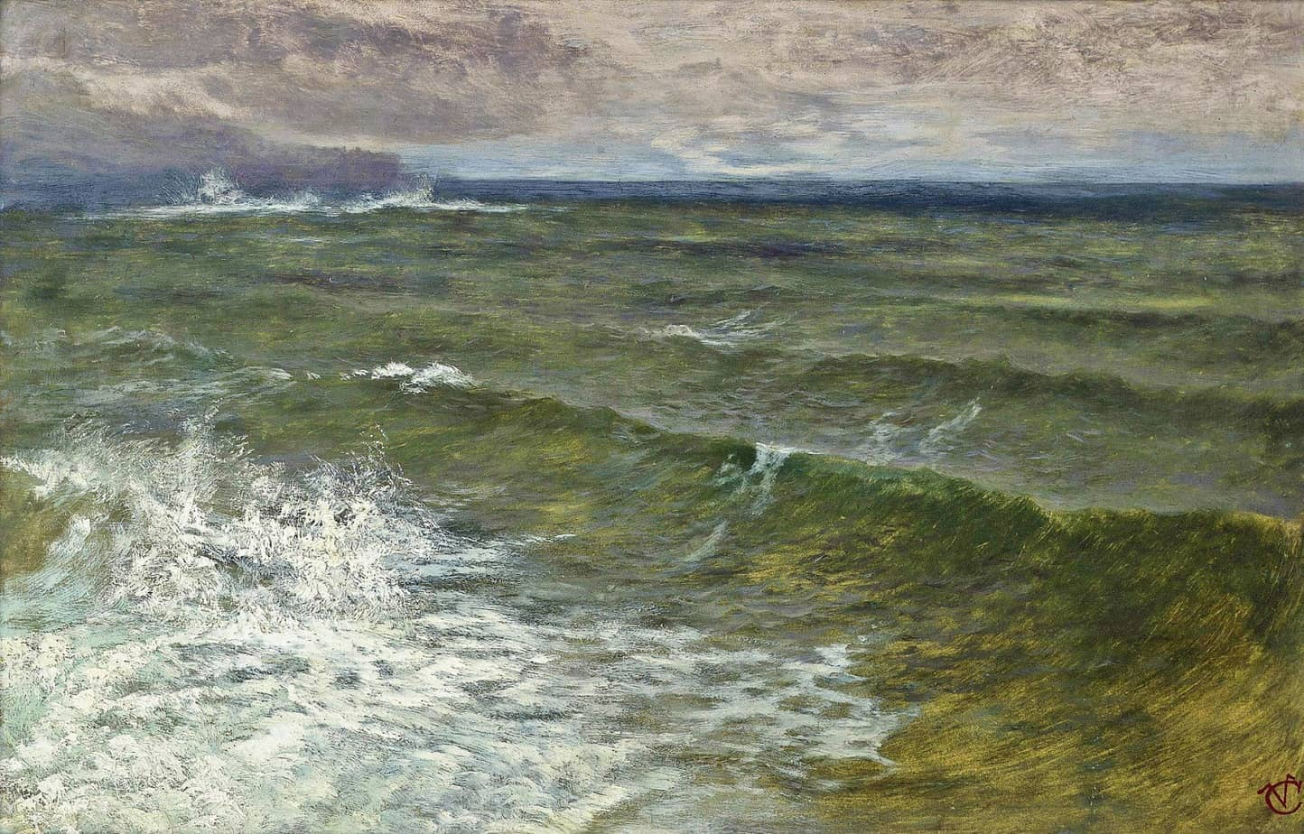 George Vicat Cole - Lannacombe Bay, Start Point in the distance